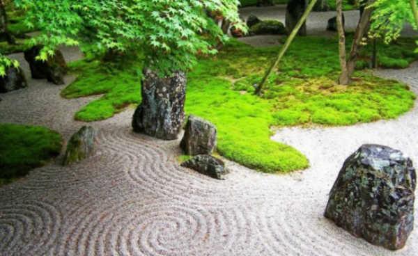Камни для ландшафтного дизайна: места использования